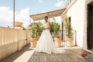 Look e acconciatura sposa,Castello Monaci, Puglia